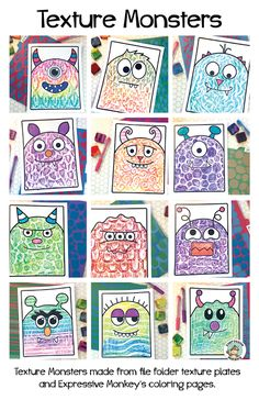 Wow! These texture plates are easy to make and kids really love using them! Check how I made cute monsters even cuter with my DIY texture plates and recycled crayons. Two great ways to save money in the art room!