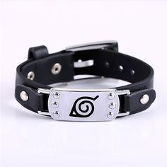 Naruto Metal Leaf Bracelet www.OtakuForest.com