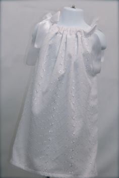 Stunning White Eyelet Pillowcase Dress or by MightySweetDesigns, $18.00