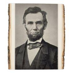#wood - #President Abraham Lincoln Gettysburg Portrait Wood Panel