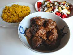 Aneta Goes Yummi: Marocký guláš s kuskusom a pečenou zeleninou s har...