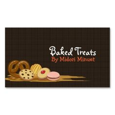 The best bakery, cake shop or pastry chef business card templates available online ~ Full color printing ~ Save up to 73% with bulk orders ~ Flat rate shipping ~ Orders ship in 24 hours