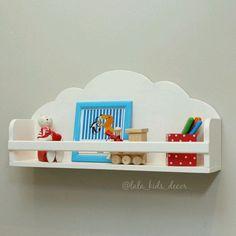 Детская ручной работы. Ярмарка Мастеров - ручная работа. Купить Полочка-облако. Handmade. Белый, облака, полка для игрушек