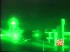 UFO Sighting over Baghdad, Iraq During News on December 1998 in Night Vision.