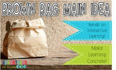 Main Idea Activity: Brown Bag Main Idea! - Ciera Harris Teaching Main Idea Activities, Reading Activities, Main Idea Lessons, Teaching Main Idea, Activity Bags, Interactive Learning, What If Questions, Reading Strategies