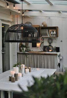 Garden Deco, Modern Garden Design, Small Places, Rustic Interiors, Outdoor Spaces, Pergola, Backyard, Ceiling Lights, House Doctor
