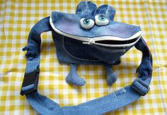 """Upcycle your unworn jeans... and you will have new friends: like this monster """"Juli"""" by Nini.Stoff"""