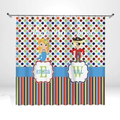 Monogrammed Personalized Custom Shower Curtain Monogram with Name