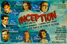"Retro Movie Posters: IF ""Inception"" was filmed in the 50's"