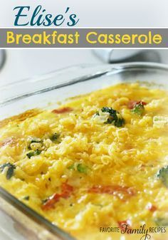This breakfast casserole is amazing! It has all the breakfast staples - eggs, meat, cheese - you will love it!