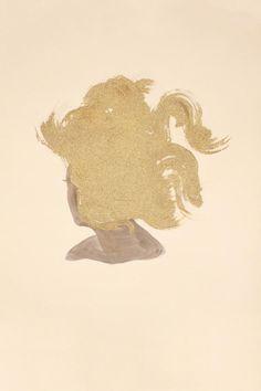 Gold Head series by American artist Lorna Simpson
