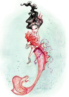 pink mermaid - Brittney Lee | re-pinned by www.about.me/southfloridah2o