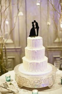 fun wedding cake topper from Simply Silhouettes.