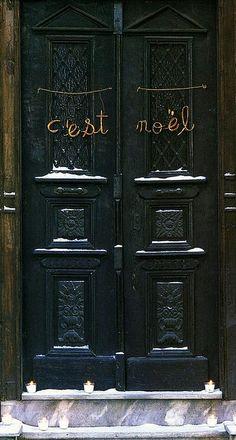 noel ...do something different on your front door.