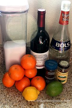 Winter Sangria Ingredients Citrus, cinnamon, and cloves. Wine Winter Sangria Based on Cooking Light's Winter Sangria reci. Winter Sangria, Sangria Ingredients, Cooking Light, Soul Food, Happy Hour, Food And Drink, Cooking Recipes, Homemade, Meals
