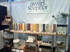 excellent tradeshow display for soaps