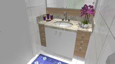 Requintado o projeto acompanha a bancada em duas cores: madeira clara e branco!