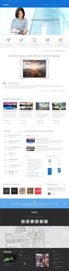 Grecko - Multipurpose Responsive WordPress Theme #html5themes #wordpressthemes #responsivedesign #responsivewordpressthemes