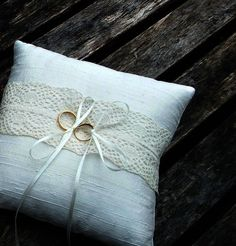 Wedding Ring Bearer Pillow, ring cushion in Ivory Raw Silk With a Strip of Cream Vintage Lace Wedding Ring Bearer Pillow ring cushion in Ivory Raw Silk Vintage Lace Weddings, Wedding Rings Vintage, Ring Pillow Wedding, Wedding Ring Box, Pink Wedding Shoes, Ivory Wedding, Wedding Veils, Handmade Wedding Rings, Ring Bearer Pillows