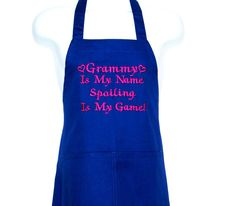 Grammy Apron, MawMa, Oma, Grans, Grannie, PePaw, Spoiling Is My Game, Custom  Personalized Grandparent Birthday Gift, Ships TODAY, AGFT 955