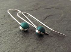 Argentium Sterling Silver Earrings. Emerald by phoenixmtncreations, $23.50
