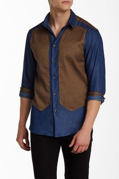 Slim Fit Long Sleeve Shirt by Isaac B. on @HauteLook