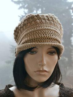 Crocheted beanie Slouchy Hat PEAKED CAP Winter Fashion very warm 747565834da5