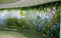 Mosaic Airport Mural – Houston Bayou – Mosaic Artist – Dixie Friend Gay – Houston, Texas