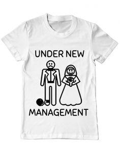 Tricou Tricou Under new management Management, Mens Tops, T Shirt, Design, Women, Fashion, Supreme T Shirt, Moda, Tee Shirt