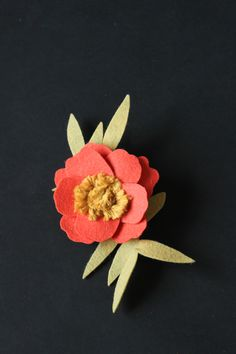 Felt   Yarn Anemone Flower Tutorial