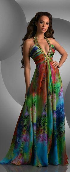 Long Dress & beautiful colors!
