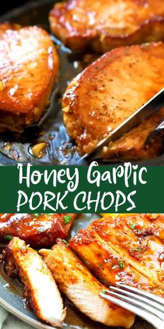 Honey Garlic Pork Chops, Crock Pot Pork Chops, Honey Garlic Chicken, Crockpot Boneless Pork Chops, Sauce For Pork Chops, Honey Glazed Pork Chops, Pork Sirloin Chops, Barbecue Pork Chops, Italian Recipes
