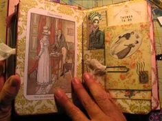 Jane Austen Junk Journal: DONE! - Created By Danielle Batog ... I love this journal, well anything Jane Austen themed really and I'm swooning ... lol..