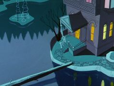 Spookish Looney Tunes Layout and Background Art