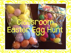 "Fill plastic eggs with educational activities or tasks and hide them around your classroom!  Students will enjoy ""hunting"" for eggs and completing the engaging activities inside."