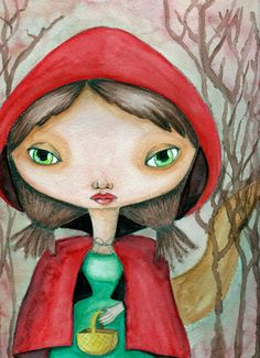 Little Red Riding Hood - Print - $9.99 www.etsy.com/shop/nayscreeptorium