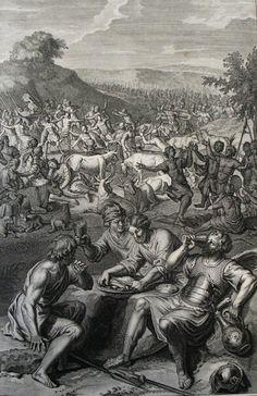 122. David overtakes the Amalekites. 1 Samuel cap 30 v 16. Hoet