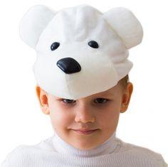 """Карнавальная шапка """"Белый Мишка"""", 52-54 см"""