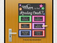 Reading Coach, Printable Poster, Back to School, Reading Teacher Posters… Teacher Door Signs, Teacher Doors, Teacher Posters, School Posters, Inspirational Classroom Posters, Math Coach, Reading Specialist, Intervention Specialist, Instructional Coaching