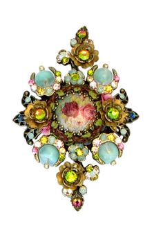 Negrin Hair Brooch | Michal Negrin Jewelry Crystal Flower Hair Brooch