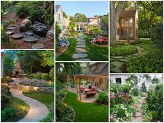 Spring is coming...error, spring is there and it's time to think to your garden and maybe rearranging it in order to have a beautiful garden as a nice place to stay this summer. Below, you will find a selection of 14 nice traditional landscape garden design ideas that mix flowers, grass, path, decorations,
