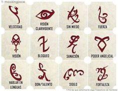 imagenes de cazadores de sombras runas con su significado - Buscar con Google