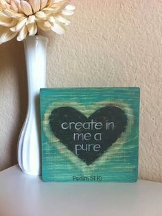 Reserved for Sharon Christian Art Create in Me by graceforgrace Scripture Art, Bible Verses, Scriptures, Bible Art, Psalm 51 10, Christian Art, Christian Crafts, Jesus Is Lord, Camping Crafts
