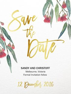 Golden Native - Save The Date Foil Save The Dates, Save The Date Cards, Save The Date Designs, Save The Date Templates, Engagement Invitations, Floral Wedding Invitations, Invites, Thank You Card Design, Tatoo