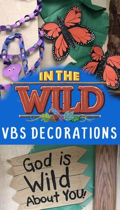 In The Wild VBS (Jungle/Safari Themed) Decoration Ideas - Clumsy Crafter Jungle Decorations, School Decorations, School Themes, School Ideas, Safari Theme, Jungle Safari, Jungle Theme, Vbs Themes, Classroom Themes