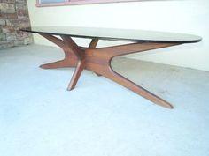 Vtg 50s Adrian Pearsall Craft Danish Modern Coffee Table Kagan Eames Era | eBay