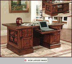 Parker House Double Pedestal Executive Desk PH-BAR-480-3 - Parker House Furniture - Home Office -