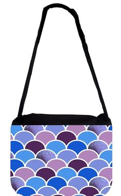 Purple Scallops- TM Messenger Bag 11.75' x 15.5' * Click on the image for additional details. (This is an Amazon Affiliate link and I receive a commission for the sales)