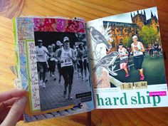 Art journalling: my first half marathon Navel Gazing, One Half, Aspergers, Self Discovery, Journalling, Marathon, Big Day, My Arts, Thankful