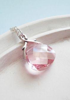 Swarovski Crystal Necklace Blushing Sterling